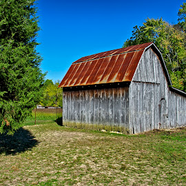 Tractor Shed by Hugh Hazelrigg - Buildings & Architecture Other Exteriors ( building, barn, agriculture, architecture, rural )
