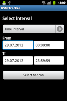 Screenshot of GSM Tracker