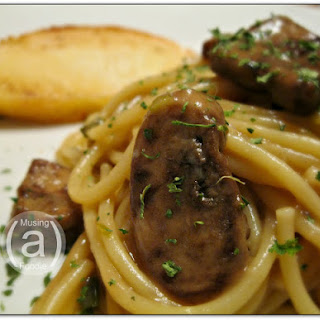 Spaghetti with Beef and Mushroom Sauce