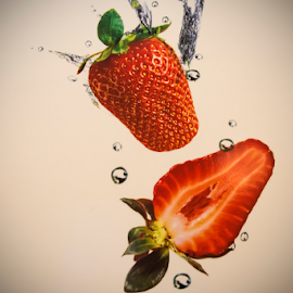 Strawberries by Dav Akers - Food & Drink Fruits & Vegetables