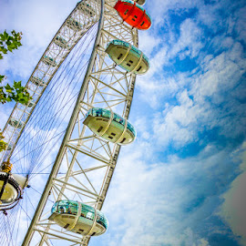 London Eye by Mihai Popa - Buildings & Architecture Bridges & Suspended Structures ( london eye, uk, england, vacation, london )