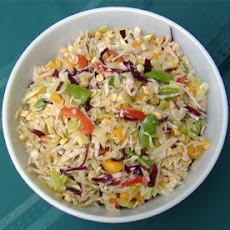 Asian Coleslaw With Peanuts and Mandarin Oranges