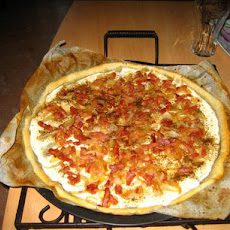 French Flamme. Bacon- Cheese Pizza/Pie