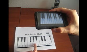 Screenshot of Piano AR Demo