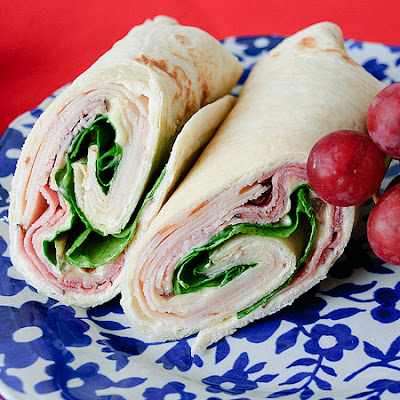 Chicken Cordon Bleu Wraps