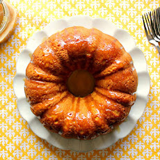 Pumpkin Bundt Cake with Salted Caramel Sauce