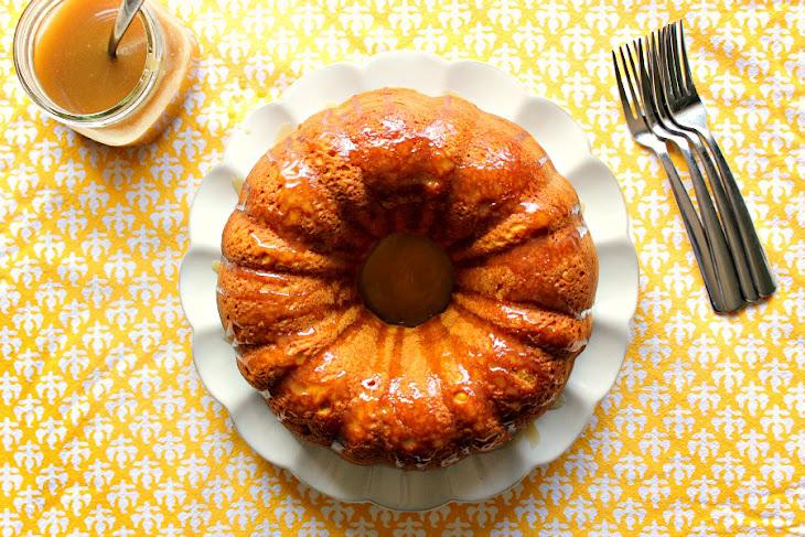 Pumpkin Bundt Cake with Salted Caramel Sauce Recipe | Yummly