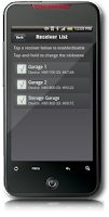 Screenshot of GarageMate, Garage Door Opener