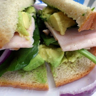 Spinach & Avocado Turkey Sandwich