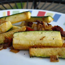 Sauteed Zucchini With Sun-Dried Tomatoes