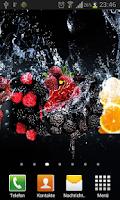 Screenshot of Fruits in water live wallpaper