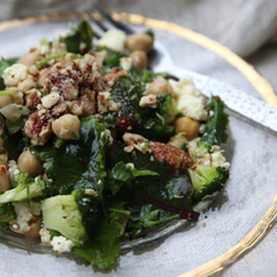 Petite Kitchen's massaged kale salad with ricotta and garlic