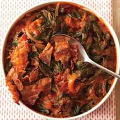 Chard with Red Sauce
