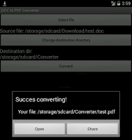 Screenshot of DjVU to PDF converter