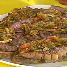 Garlic-Buttered Sliced Steak with Onions