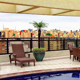 Sao Paulo View by Tricia Scott - Buildings & Architecture Office Buildings & Hotels ( brazil, swimming pool, apartment, architecture, cityscape, view, hotel, city )