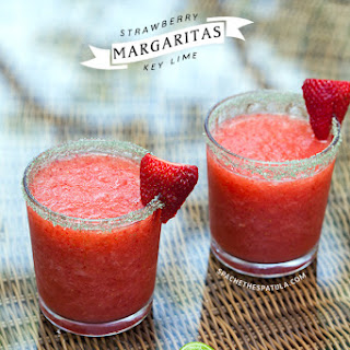 Strawberry Key Lime Margaritas