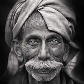 ~ New Year Smile ~ by Pronab Kundu - People Portraits of Men ( face, black and white, street photography )