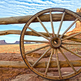 Wagon Wheel View by J Alexander Baker - Landscapes Deserts ( monument valley, american west, utah, arizona, antelope canyon, grand canyon )