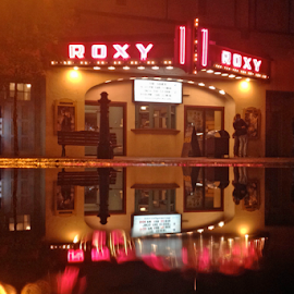 Roxy Reflection by Keith Sutherland - Buildings & Architecture Other Exteriors ( reflection, theater, pink, roxy )