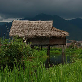 Home is what you make it by Justine Lewis - Buildings & Architecture Homes ( myanmar, bamboo, lake, burma )