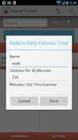 Screenshot of Calorie Tracker & Counter