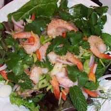 Thai Spicy Shrimp Salad (Yaam Goong)