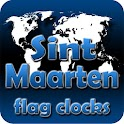 Sint Maarten flag clocks icon