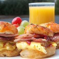 Habanero Honey Country Ham Biscuits