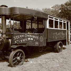 Steam Onnibus by Mike Coombes - Transportation Automobiles ( charabang, bus, foden, vintage, transport, puffing billy, obmibus, steam,  )