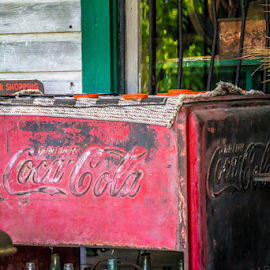 Old Coke Cooler by Robert Willson - Artistic Objects Furniture ( signs, willson, fl, bob willson, places, documetary, artistic objects, usa, robert willson, antiques )