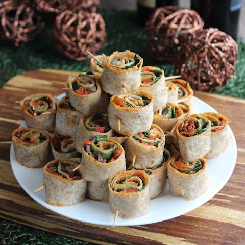 Delicious Party Food - Spicy Tortilla Rollups