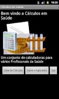 Screenshot of Cálculos em Saúde