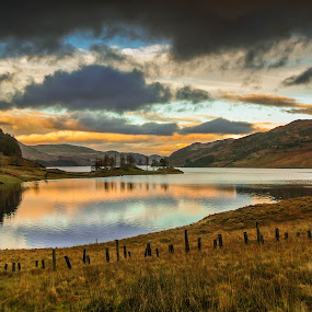 haweswater lake district by Gareth Fleming - Landscapes Waterscapes ( stillwater, sunset, lake, lakedistrict )