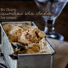 Caramelised White Chocolate No Churn Ice Cream
