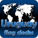 Uruguay flag clocks icon