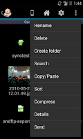 Screenshot of AndExplorerPro (file manager)