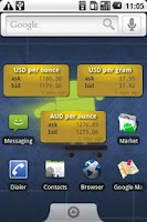 Screenshot of Gold Price Widget