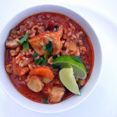 Spicy Fish Stew Risotto