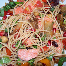 Salmon and Vegetable Chickpea Pasta Bowl
