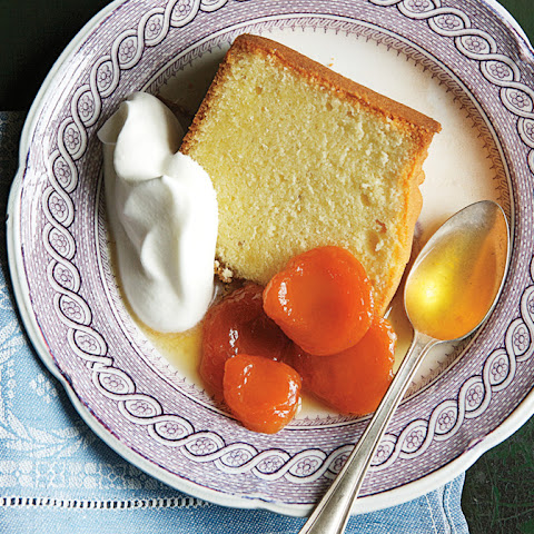 Pound Cake with Grand Marnier–Poached Apricots