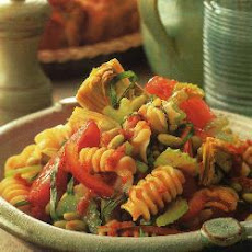 Radiatori With Flageolet Beans In Tomato Dressing