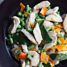 Chicken-Green Bean Yellow Chili Stir-Fry