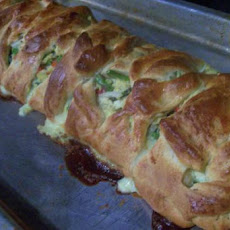 Garden Vegetable Omelette Braid(Pampered Chef Copycat)