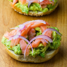 Bagel, Lox and Avocado