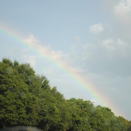 rainbow coming from Midland city towards Dothan by Ann Spurling - Landscapes Weather