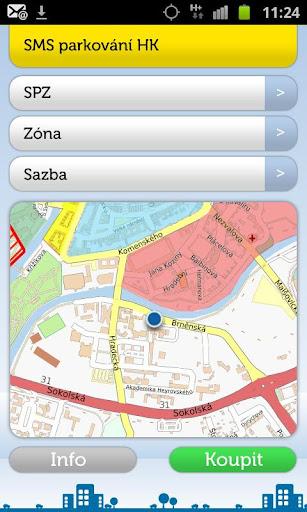 SMS Parkování Hradec Králové