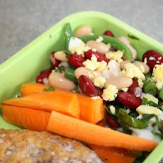 Mixed Bean Salad With Green Vinaigrette