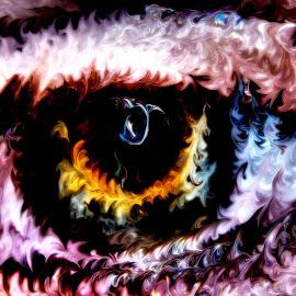 Can you see me by Calvin Morgan - Abstract Macro ( abstract, watercolor, macro, art, nikon d7000, eye )