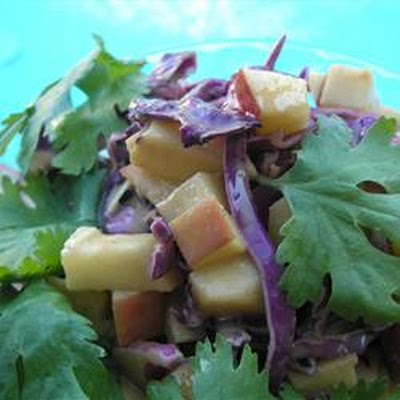 Purple Apple Slaw with Peanut Butter Dressing